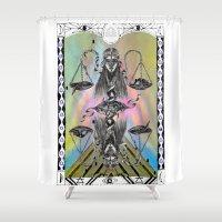 libra Shower Curtains featuring LIBRA by Caroline Vitelli GOODIES