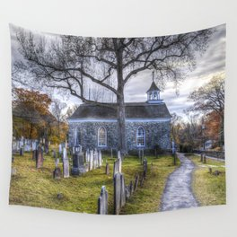 Old Dutch Church Of Sleepy Hollow Wall Tapestry