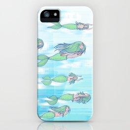 Mermaid migration iPhone Case