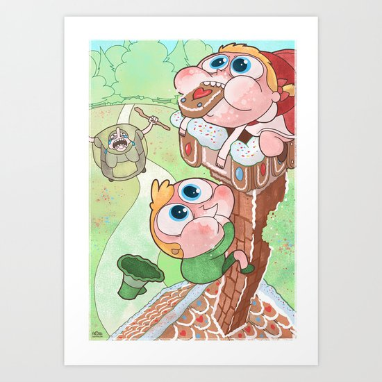 Hansel and Gretel are Assholes Art Print