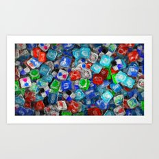 United Colors of Internet - Painting Style Art Print