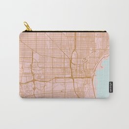 Pink and gold Milwaukee map Carry-All Pouch