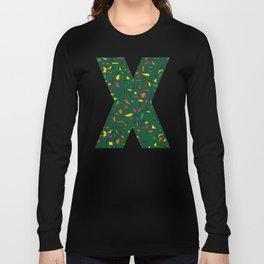 Terrazzo green background Long Sleeve T-shirt