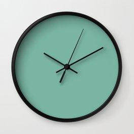 Dusty Jade Green Wall Clock
