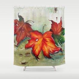 Autumn Leaves (Platanus) Shower Curtain