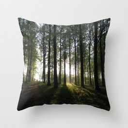 Light at the End of the Trees Throw Pillow
