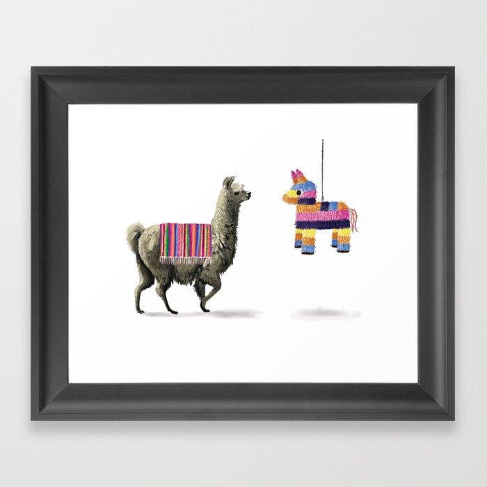 Llama Party Framed Art Print