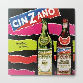 Vintage Cinzano Advertisement Metal Print