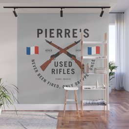 Pierre's Used Rifles Wall Mural