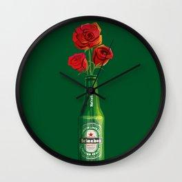 Dudes Love Roses (Green) Wall Clock