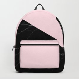 light pink and black marble Backpack