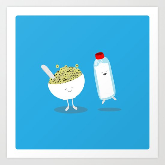 Cereal & Milk  Art Print