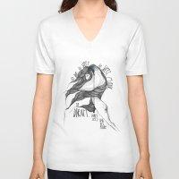hamlet V-neck T-shirts featuring Hamlet. by Marina Guiu