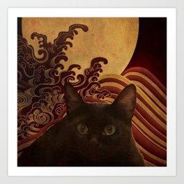 My JAPANESE CAT 18 Art Print