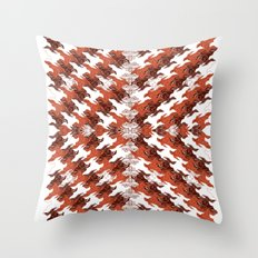 Eagles and Flowers and Eagles Throw Pillow