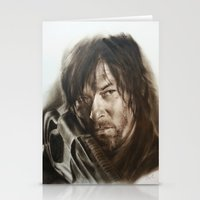 daryl Stationery Cards featuring Daryl Dixon by David Nash