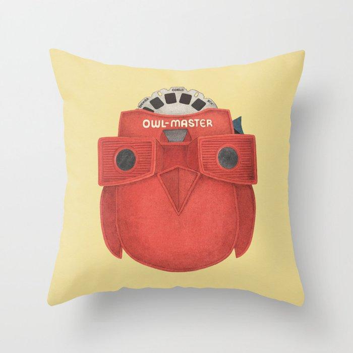 Owl-Master Throw Pillow