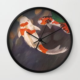 Two Koi  Wall Clock