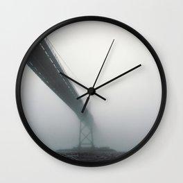 Bridge to Fog Wall Clock