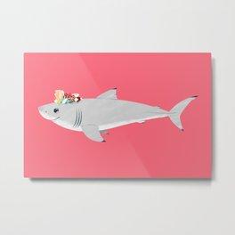 Cute White Metal Print