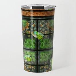 GARDEN PARTY, fractals, collage art, 3D look Travel Mug