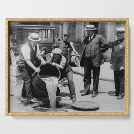 Booze Dump - Vintage Prohibition Photo Serving Tray