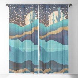 Indigo Desert Night Sheer Curtain