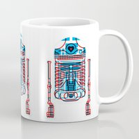 r2d2 Mugs featuring R2D2 by trevacristina