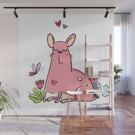 Pink Dog Beauty Wall Mural