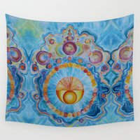 om Wall Tapestries featuring Om by Organic Generation Art