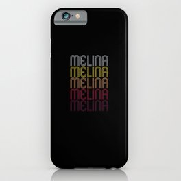 Melina Name Gift Personalized First Name iPhone Case