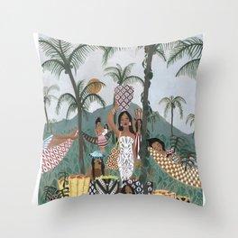 Sweet Palm Sugar Throw Pillow