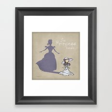 The Princess Inside Framed Art Print