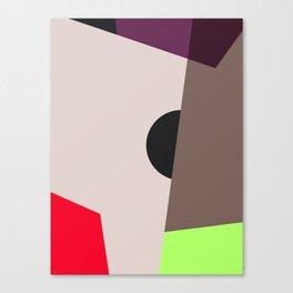 Modern Vintage Minimal Inspired Geometric Colorfield Art Print Canvas Print