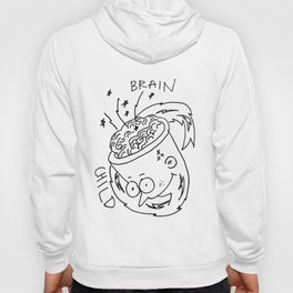 brain child with lightning and sparks Hoody