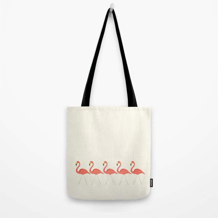 Flamingo Lineup Tote Bag