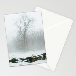 Through the Winter snow and  mist Stationery Cards