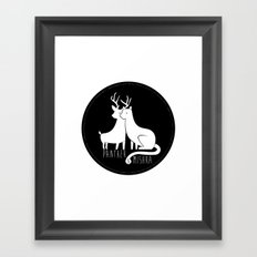 Panther & Mishka Framed Art Print
