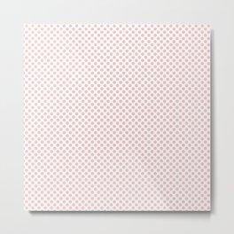 English Rose Polka Dots Metal Print