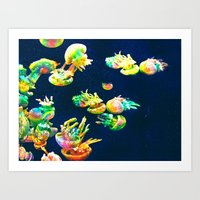 rasta Art Prints featuring Rasta Jellies by Heidi Fairwood
