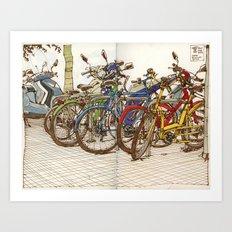 Bike Mess Art Print