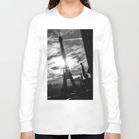 eiffel Long Sleeve T-shirts featuring Eiffel by Nat Alonso