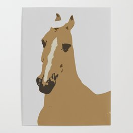 Abstract Palomino Horse Poster