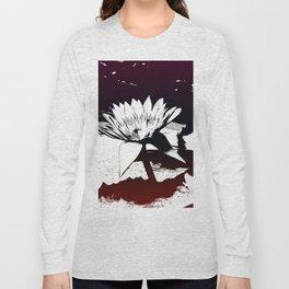Stylized Water lily Long Sleeve T-shirt