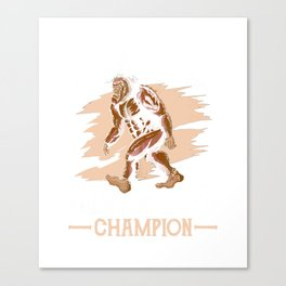 Funny Undefeated Hide And Seek Champion Bigfoot Tshirt Mens Canvas Print
