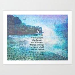 Lewis Carroll Alice in Wonderland quote Art Print