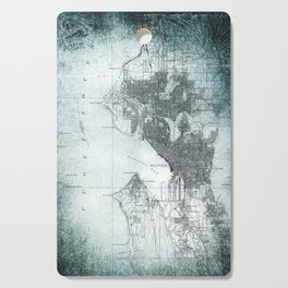 Vintage Seattle City Map Cutting Board