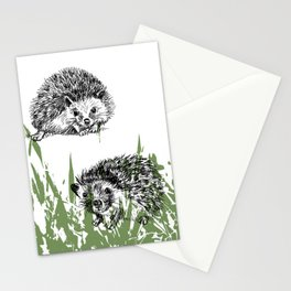 Hedgehogs print Stationery Cards