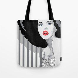 Woman hair Tote Bag