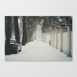 snow in wels (1) Canvas Print